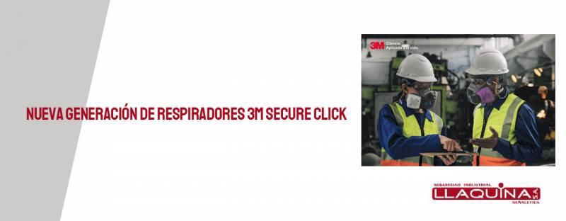 Nueva generación de respiradores reutilizables 3M Secure Click