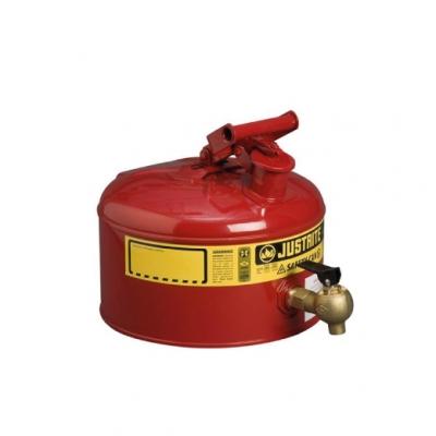 Bidon De Seguridad Justrite  Metalico Con Grifo - 2.5 Galones 7225140