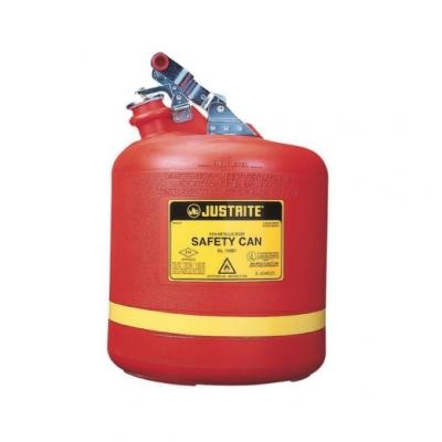 Bidon De Seguridad Justrite  Plastico Tipo I - 5 Galones 14561