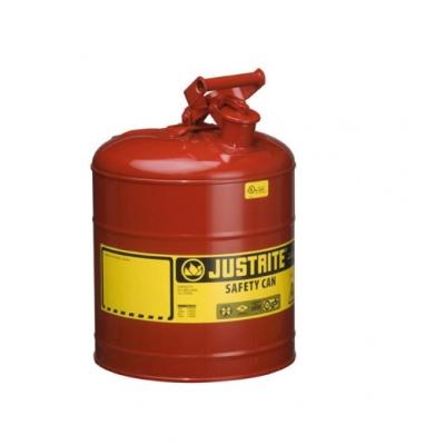 Bidon De Seguridad Justrite Metalico Tipo I - 5 Galones 7150100