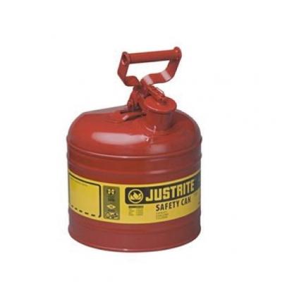 Bidon De Seguridad Justrite Metalico Tipo I - 2 Galones - 7120100