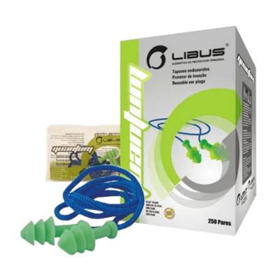 Protector Auditivo Endoaural Libus Quantum Con Cordel X 10 Pares