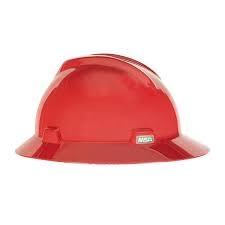 Casco Msa V Gard Sombrero Rojo