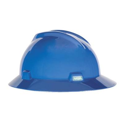 Casco Msa V Gard Sombrero Azul
