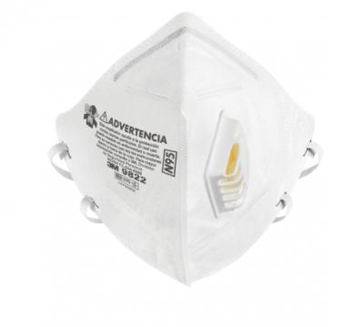 Respirador Descartable Con Valvula Modelo 9822, N95